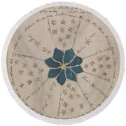 Voynich Manuscript Astro Rosette 2 Round Beach Towel