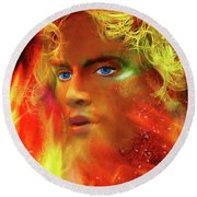 Round Beach Towel featuring the photograph Vulcan by LemonArt Photography