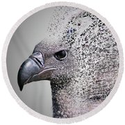 Vulture Break Up Round Beach Towel