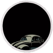 Vw Beatle Round Beach Towel