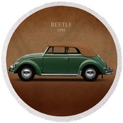 Vw Beetle 1953 Round Beach Towel