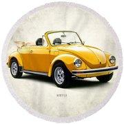 Vw Beetle 1972 Round Beach Towel by Mark Rogan
