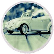 Vw Beetle Convertible Round Beach Towel