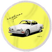 Vw Karmann Ghia Round Beach Towel