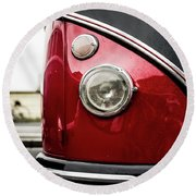 Round Beach Towel featuring the photograph Vw Split Screen Camper by Will Gudgeon