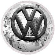 Vw Volkswagen  Round Beach Towel