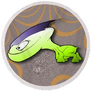 Waggah Round Beach Towel by Uncle J's Monsters