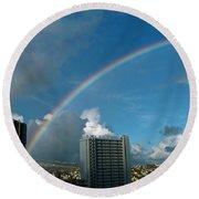 Waikiki Rainbow Round Beach Towel