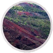Round Beach Towel featuring the photograph Waimea Canyon II by Kenneth Campbell