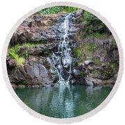 Waimea Waterfall Round Beach Towel