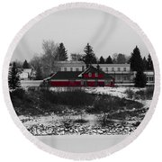 Round Beach Towel featuring the photograph Heritage Park by Stuart Turnbull