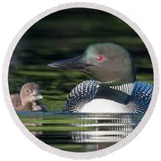 Wait For Me.... Round Beach Towel