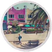 Waitin' For Victorio Round Beach Towel by Laurie Search