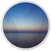 Waiting For A New Day Round Beach Towel