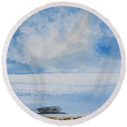 Waiting For Sailor's Return Round Beach Towel