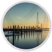 Round Beach Towel featuring the photograph Waiting For The Flood by Hannes Cmarits