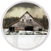 Round Beach Towel featuring the photograph Waiting For The Storm To Pass by Julie Hamilton