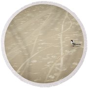 Round Beach Towel featuring the photograph Waiting My Turn by Carolyn Marshall