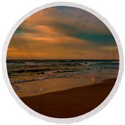 Waiting On The Dawn Round Beach Towel
