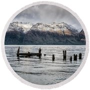 Wakatipu Revisited Round Beach Towel
