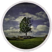 Wake Me Up When September Ends Round Beach Towel