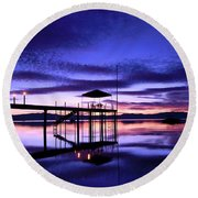 Wake Up To The Dawn Round Beach Towel