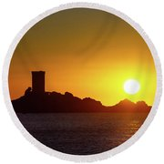 Rising Sun Round Beach Towel