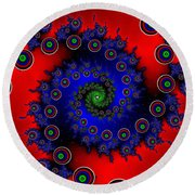 Round Beach Towel featuring the digital art Walcilites by Andrew Kotlinski