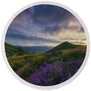 Walker Canyon Round Beach Towel