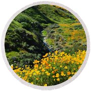 Round Beach Towel featuring the photograph Walker Canyon Vista by Glenn McCarthy Art and Photography