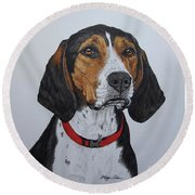 Walker Coonhound - Cooper Round Beach Towel by Megan Cohen