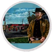 Walker Texaco Ranger Round Beach Towel
