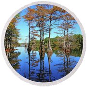 Walkers Mill Pond Round Beach Towel