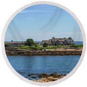 Walkers Point Kennebunkport Maine Round Beach Towel by Brian MacLean