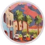 Walking Area In Old Town La Quinta Round Beach Towel