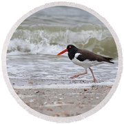 Walking On By Round Beach Towel