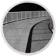 Round Beach Towel featuring the photograph Walkway by Chevy Fleet
