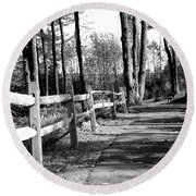 Round Beach Towel featuring the photograph Walkway by Rick Morgan