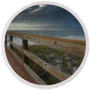 Walkway To Paradise Round Beach Towel
