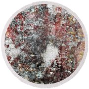Wall Abstract 103 Round Beach Towel