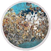 Wall Abstract 106 Round Beach Towel
