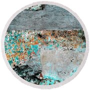 Wall Abstract 117 Round Beach Towel