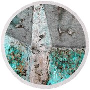 Wall Abstract 118 Round Beach Towel