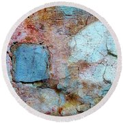 Wall Abstract 138 Round Beach Towel