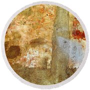 Wall Abstract 156 Round Beach Towel