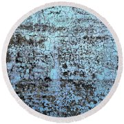Wall Abstract 163 Round Beach Towel