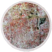 Wall Abstract 169 Round Beach Towel