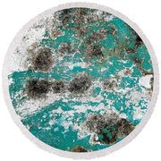 Wall Abstract 171 Round Beach Towel