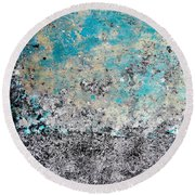 Wall Abstract 174 Round Beach Towel