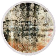 Wall Abstract 182 Round Beach Towel